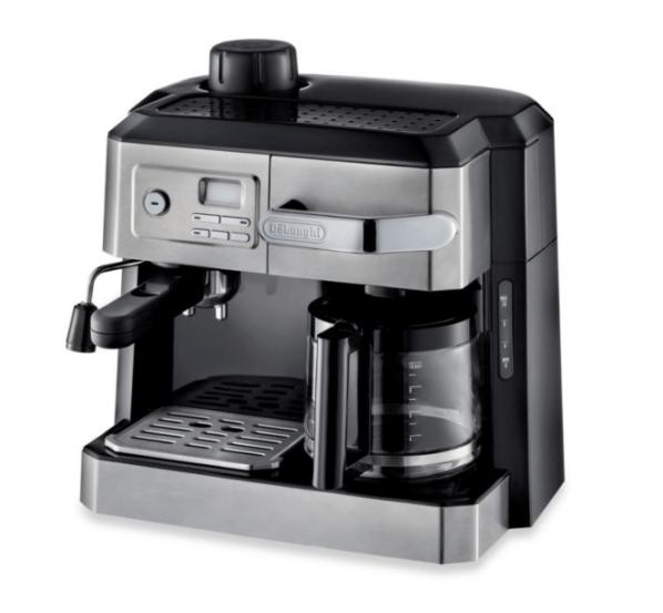 De'Longhi BCO330T Combination Steam Espresso Drip Coffee Cappuccino and Latte Machine in Silver eCoffee Finder