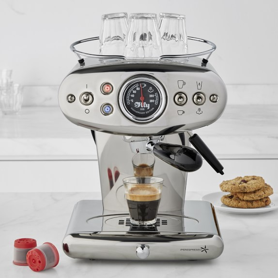 Illy X1 Anniversary Espresso Machine, Stainless-Steel 199Save Email a friend Print Recently Viewed Scroll to Previous Item Scroll to Next Item Illy X1 Anniversary Espresso Machine