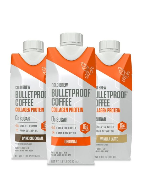 VARIETY COLD BREW WITH COLLAGEN PROTEIN - 12CT By Bulletproof