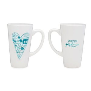 Anatomy of a Best Friends Heart Coffee Mug by SANDRA DUMAIS @ eCoffeeFinder.com