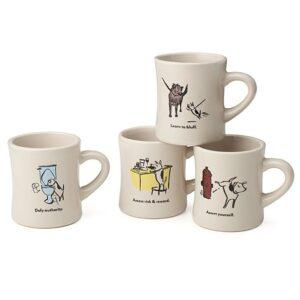 Bad Dog Wisdom Coffee Mugs