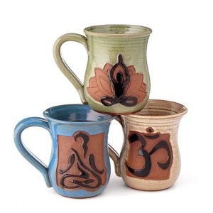 Mindful Yoga Mugs by JOANN STRATAKOS @ eCoffeeFinder.com