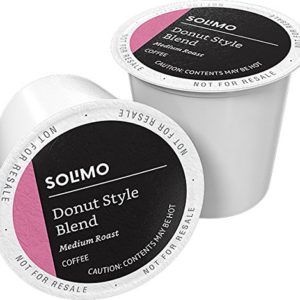 Solimo Donut Style Blend Medium-Light Roast Coffee Pods 100 Ct ECoffeeFinder