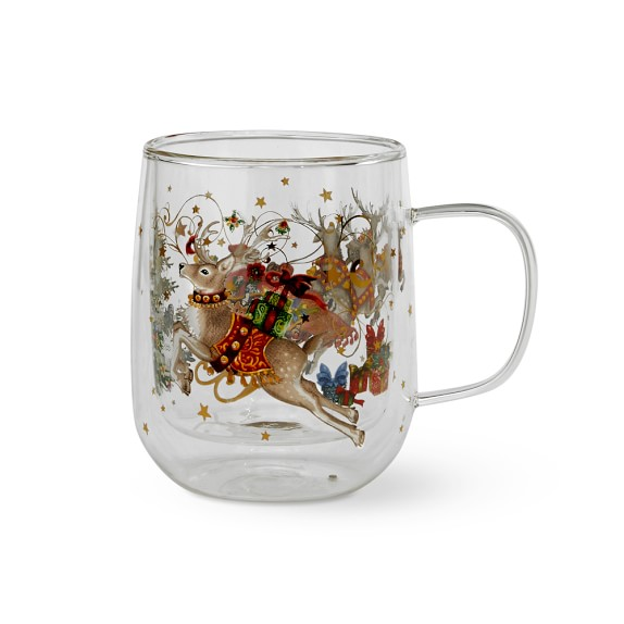 Twas the Night Before Christmas Double-Wall Coffee Mug by Williams and Sonoma