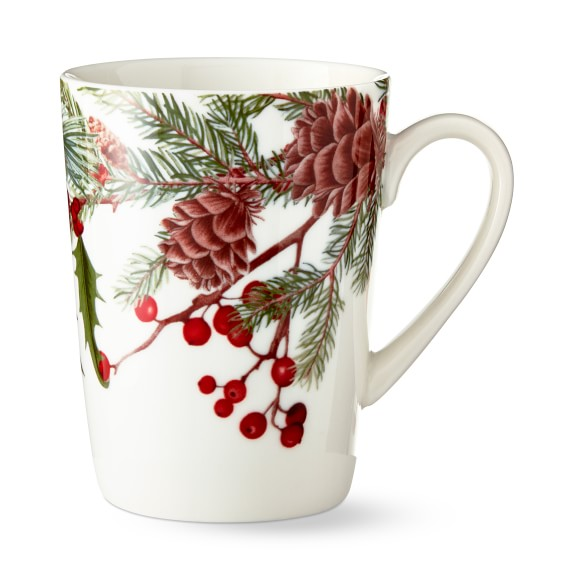 Woodland Berry Pinecone Mugs by Williams and Sonoma @ eCoffeFinder.com