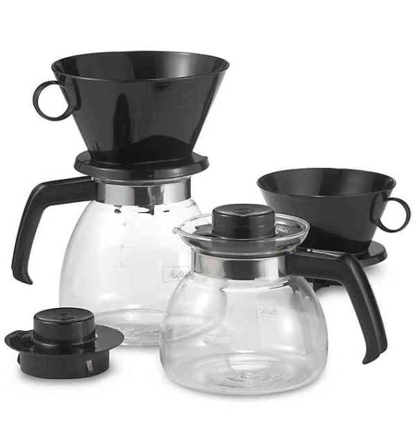 Melitta® Pour Over Coffee Makers with Glass Carafe